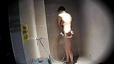 Hidden cam filming my wife take shower