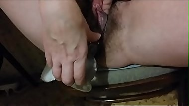 Bbw fat russian mom anal dildo