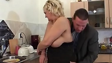 Mature blonde Klara slut loves to take it in a doggy style position