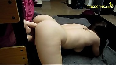 Jessica - Amateur PAWG Waitress from NY caught on webcam