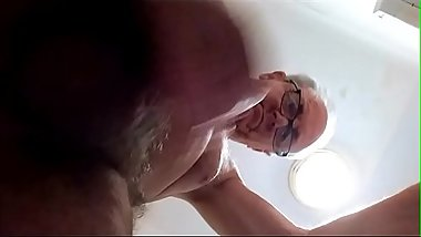 Watch me dripping cum from my hairy cock.