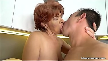 Granny Gets Her Hairy Snatch Eaten and Fucked