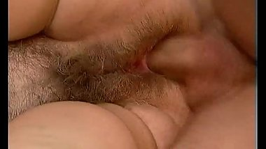 Dirty blonde mature slut gets her hairy