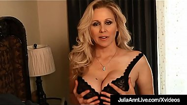 World Famous Milf Julia Ann Dildo Fucks Her Hot Juicy Pussy!