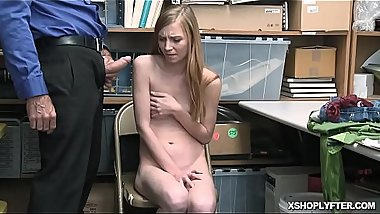 LP Officer plowing Ava Parker pussy on top of his man meat!