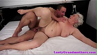 Tittyfucked granny getting banged