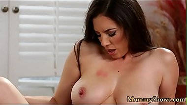 Busty milf pussylicking lovely stepdaughter