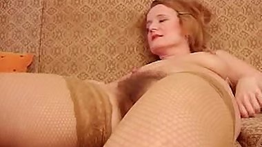 Mature &amp_ Hairy - Ivana -  Toys Both Holes