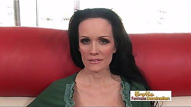 Massive tits mature brunette drilled hard by a horny younger stud