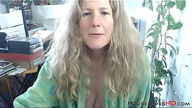 Unshaven goddess granny KRING with natural huge breasts
