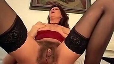 Hairy Woman With Saggy Breasts Fucking