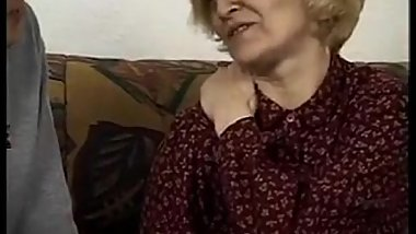 Hairy European Granny On A Younger Dick