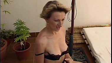 Mature blonde having fun