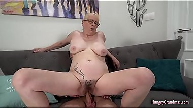 Blonde GILF cherishing a hard dong