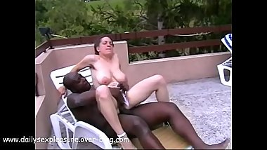 Helena Bella Hairy Busty French Fucked by BBC &amp_ Screams Loudly