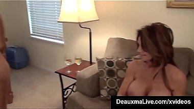 Sympathetic Cougar Deauxma Tongues Widow Brooke Tyler !